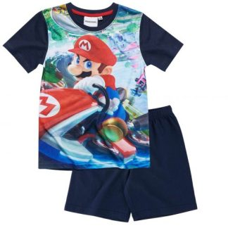 Nintendo-Super Mario Bros Pyjama blauw Maat 104