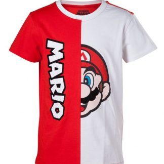 Super Mario T-shirt rood-wit