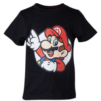 Nintendo - It's me Mario Kids Boys T-shirt Zwart