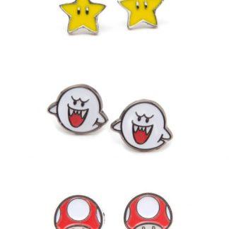 Super Mario -Star, Boo en Mushroom stud oorbellen