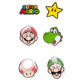 Super Mario - Mario Characters Metalen Pin Set