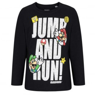 Super Mario - Jump en run T-shirt lange mouw