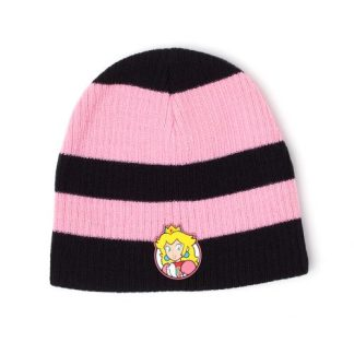 NINTENDO - Princess Peach logo Striped Beanie - Muts