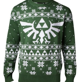 LEGEND OF ZELDA - Gebreide groene kerst trui Zelda heren