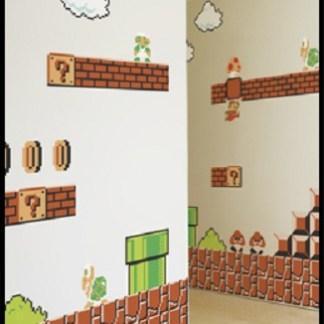 Super Mario Muursticker it's game time now for Super Mario