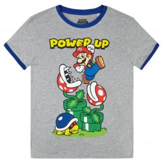 Nintendo - Super Mario t-shirt kids Power Up Grijs