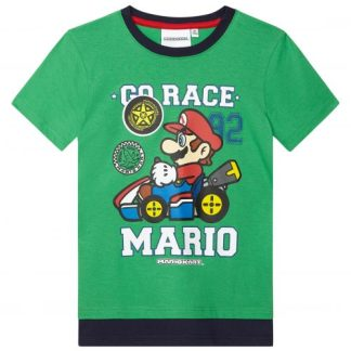 Super Mario T-shirt Kids Go Race Mario Groen