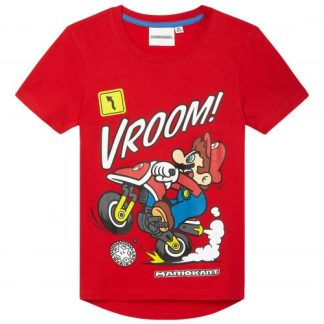 Super Mario T-shirt Kids Vroom Mariokart Rood