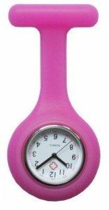 Baldira montre d'infirmière en silicone blanc, rose, orange, rouge, jaune, bleu clair, bleu foncé, noir, vert violet ® boolavard tM rose
