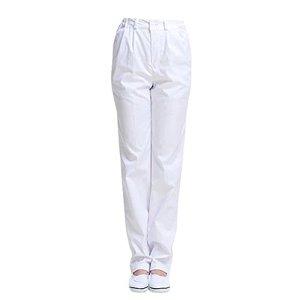 Pantalon Médical Unisex Ceinture Élastique Blanc pour Travail Medical ou Industriel (M(Hauteur: 160-165cm/Tour de Taille: 77-81cm))