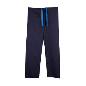 Pantalon medical unisexe reversible (L, Bleu marine)