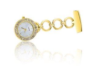 Longqi montre Medical spécial Strass FOB montres avec mouvement à quartz Poche Entièrement en acier pour infirmière Doctor