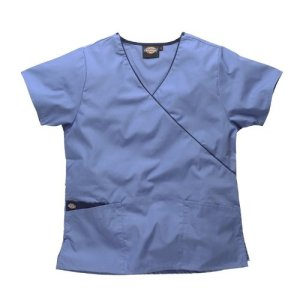 Blouse médicale Dickies en cache coeur, HC11601 (L, CEIL-BLEU CIEL)