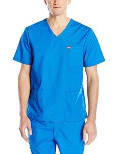 Blouse médicale, Orange Standard, Unisexe «Balboa» (G3107-) (L, Bleu roi)