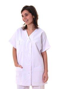 Tunique infirmière col V-blanc-T4