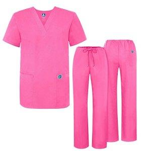 Adar Ensemble Uniformes Unisexe Blouse – Uniforme Médical avec Haut et Pantalon – 701 Couleur: LPP | Taille: S