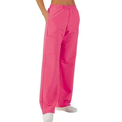 Pantalon médicale de travail taille élastiquée poches plaquées popeline 65/35 Strawberry 618 T1 – 38/40