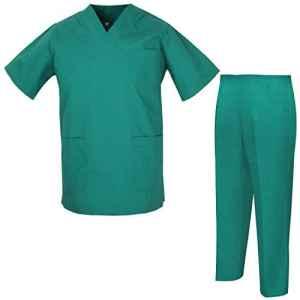 Misemiya – Ensemble Uniformes Unisexe Blouse – Uniforme Médical avec Haut et Pantalon – Ref.8178 – Small, Vert