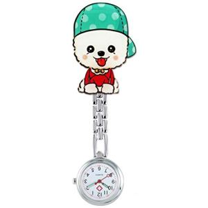 Montre de poche Infirmière Montre de Poitrine, à Quartz Lumineux, médecin/Personnel Infirmier/infirmière/Poche/Daily Wear (Color : V)