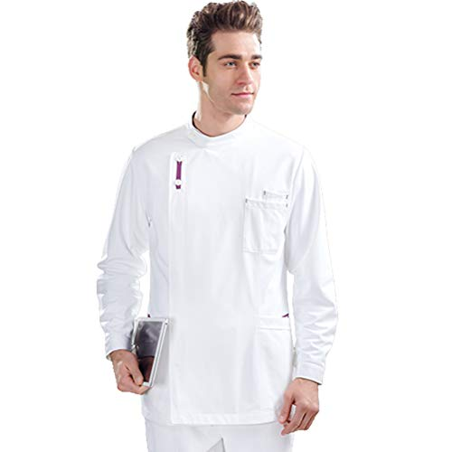 R&r Manteau De Médecin, Tunique Blanche Unisexe Tunique De Technicien Scientifique (45PCS),XXL