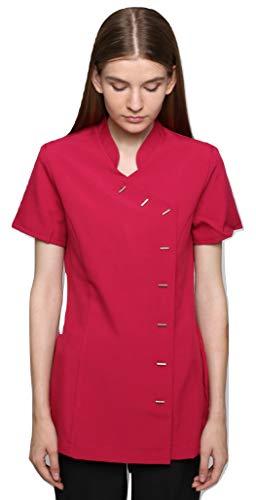 Mirabella Health & Beauty Tunique esthéticienne pour Femme modèle Arete Rose Fuchsia , taille- 46/18 UK