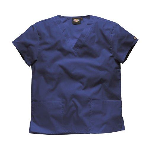 Dickies Workwear Chemise de médecin avec 2poches et col en V – bleu – XXX-Large