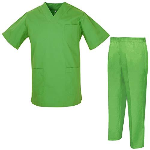 Misemiya – Ensemble Uniformes Unisexe Blouse – Uniforme Médical avec Haut et Pantalon – Ref.8178 – Medium, Chemise Sanitaire 817-18 Pomme Verte