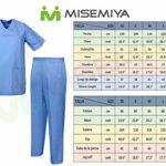 Misemiya – Ensemble Uniformes Unisexe Blouse – Uniforme Médical avec Haut et Pantalon – Ref.8178 – Small, Bleu