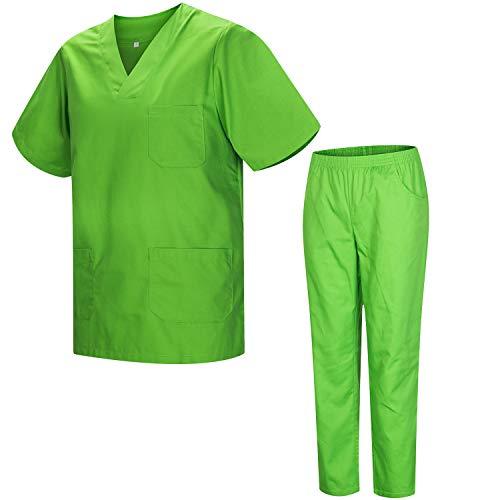 Misemiya – Ensemble Uniformes Unisexe Blouse – Uniforme Médical avec Haut et Pantalon – Ref.8178 – XX-Large, Apple Green