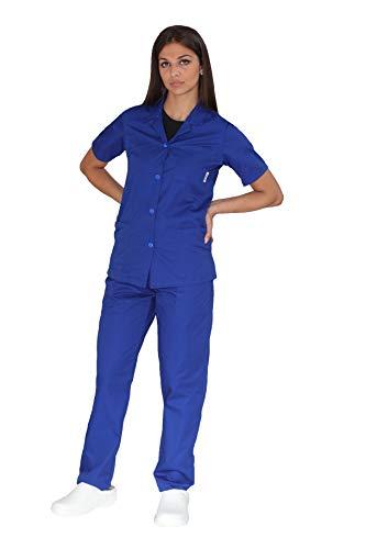 tessile astorino Broderie gratuite – Divisa sanitaire Royal – Pantalon et Haut d'hôpital – Pour homme et femme – Ensemble pour dentiste, infirmier, hôpital, opérateur sanitaire – Bleu – XXX-large