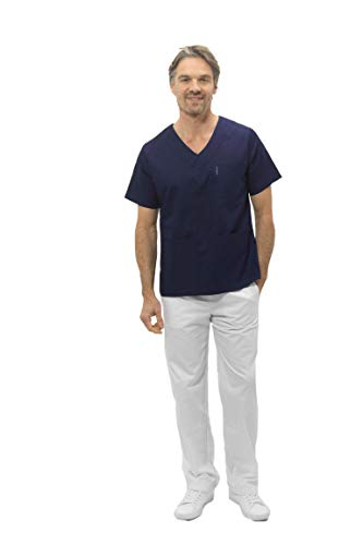 Selekto Pro Pantalon Médical Esthétique Mixte Couleur Blanc, Haute Qualité- Médecin Dentiste vétérinaire infirmière (XXL)