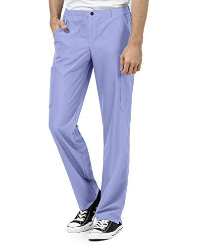 WonderWink Men's Straight Leg Pant Pantalon médical, Bleu Ciel, S Homme