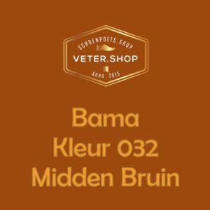 032 midden bruin