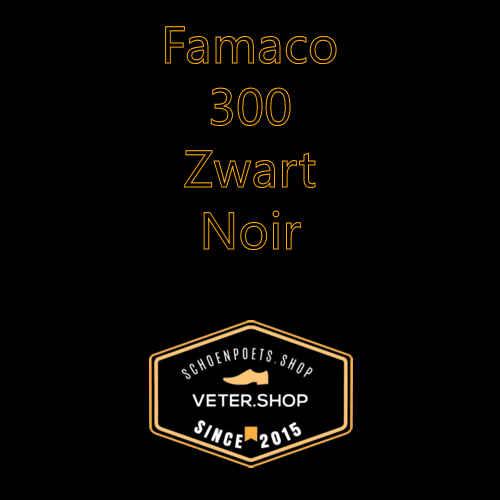 Famaco leer onderhoud Kleur 300 Zwart