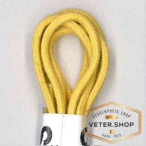 Wax schoenveters, dun 2.5mm diverse lengtes - geel