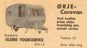 Ørje Caravan fra 1967,annonse. BL