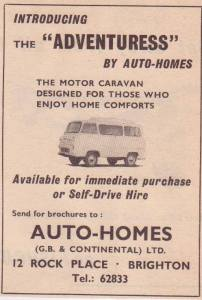 Annonse for Auto-Homes fra 1964.BL