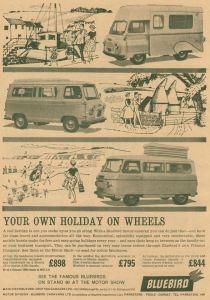 Annonse for Bluebird bobiler 1962. BL