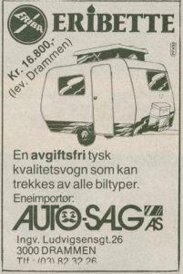 Eriba Eribette fra 1978. Annonse. BL