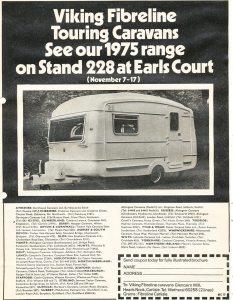 Annonse for engelske Viking Fibreline fra 1973. BL