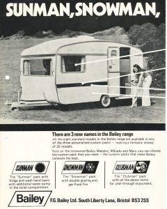 Bailey annonse fra 1973. BL