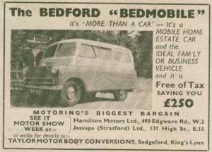 Bedford basert Bedmobil fra 1956. BL