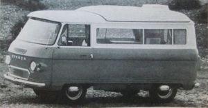 Utklipp av en Commer basert bobil fra 1974. BL.