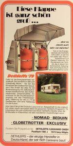 Dethleffs annonse fra 1979. BL