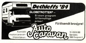 Dethleffs annonse fra 1984. BL