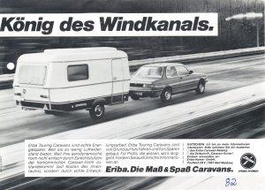 Eriba Hymer annonse fra 1982. BL