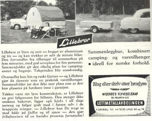Lillebror annonse fra 1957. BL