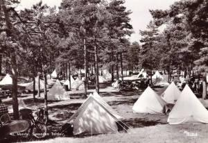 Mandal - Sjøsanden Teltleir. ca 1950