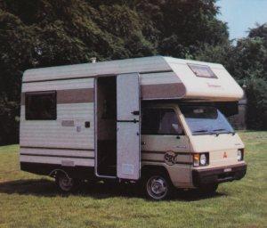 Mitsubishi basert bobil fra CRV 1984. BL