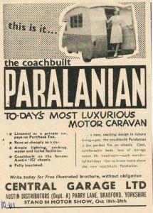 Paralanian annonse fra høsten 1961. BL